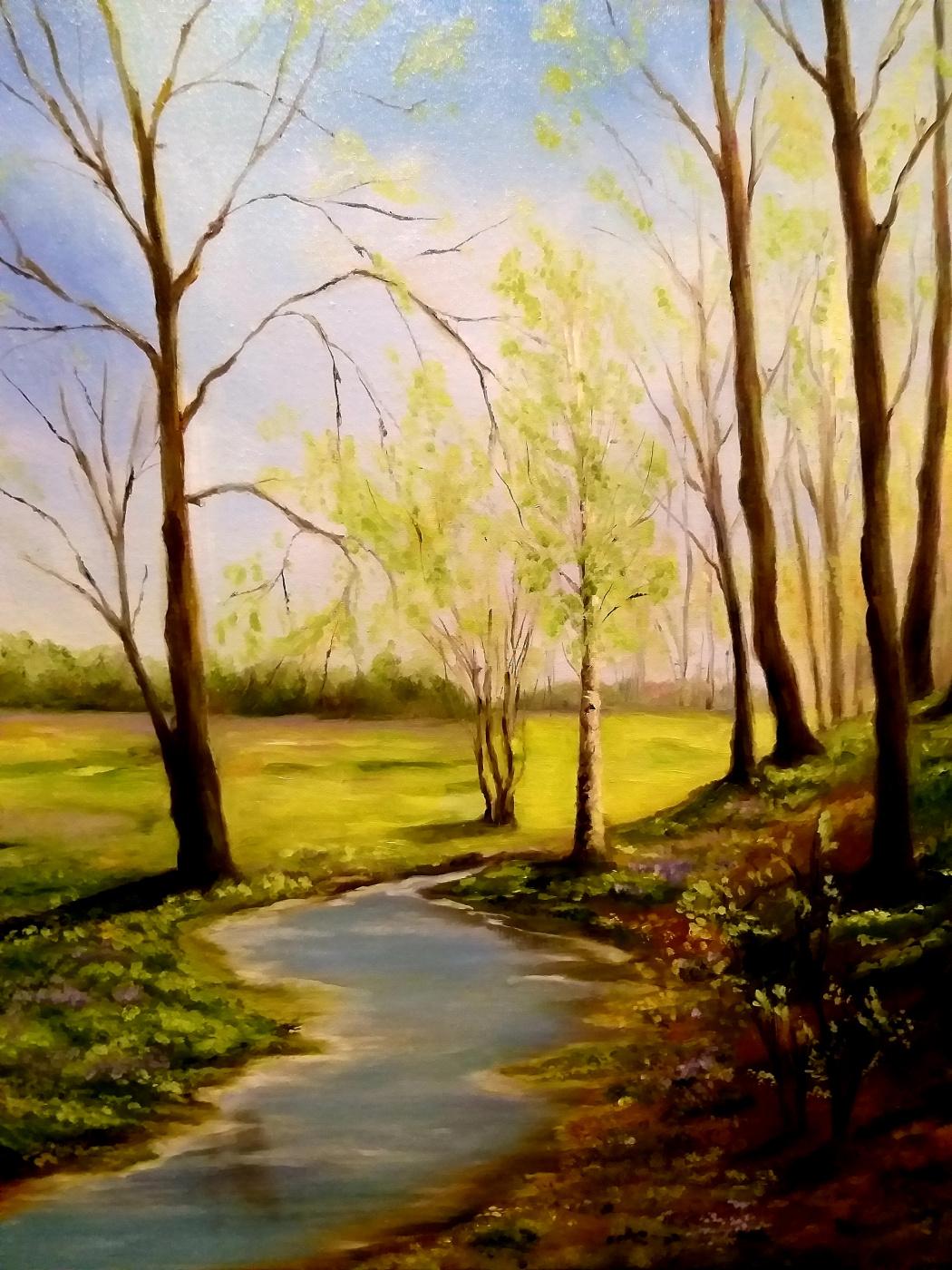 "Valeria Kostromina. The painting ""Spring rings"""