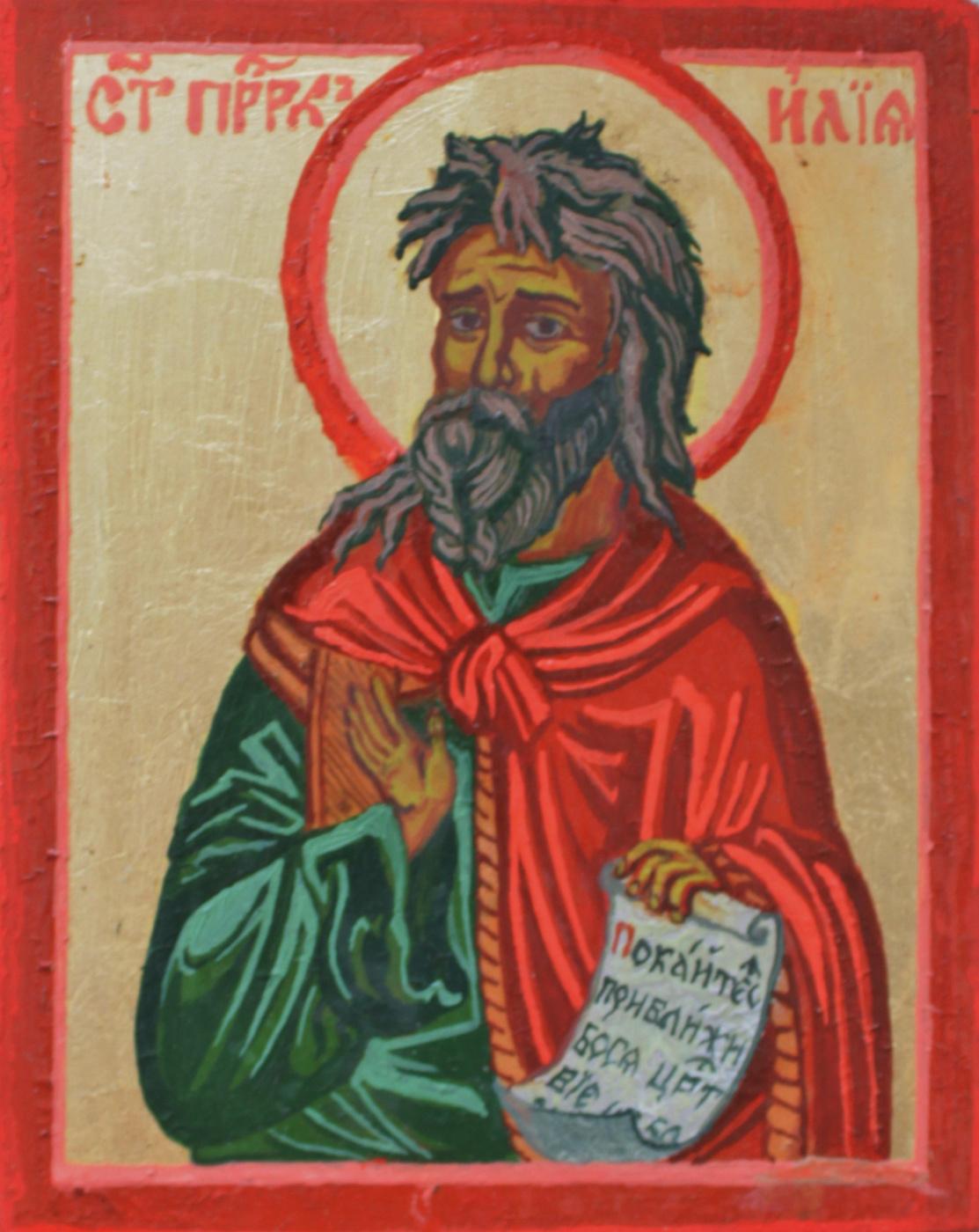 """Sergey Vladimirovich Skorobogatov. Icon """"Prophet Elijah"""""""