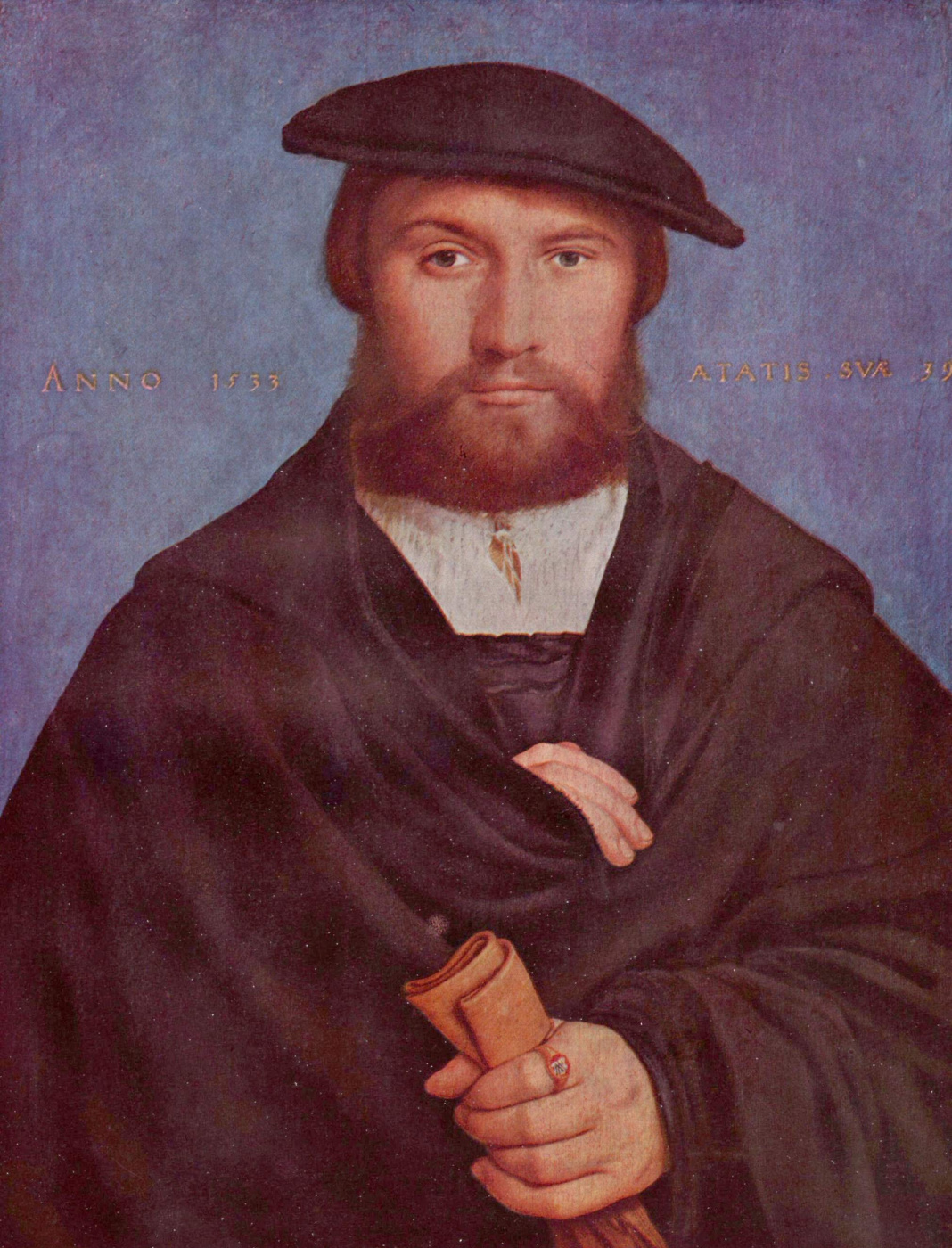 Hans Holbein the Younger. Portrait of the Cologne merchant Wedig