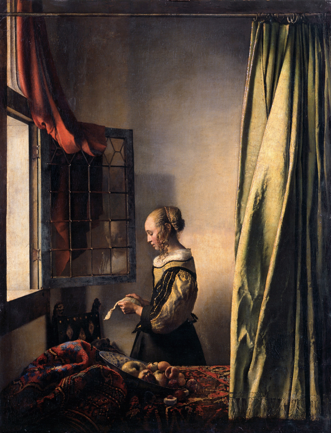 Jan Vermeer. Girl a letter at an open window