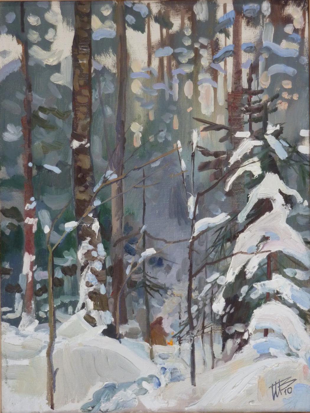 Владимир Никитович Шмуратко. Winter bonfire