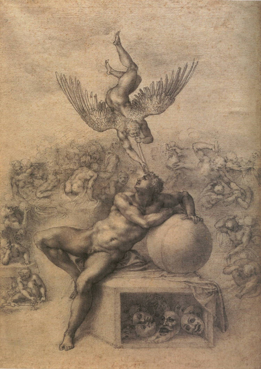 Michelangelo Buonarroti. The dream of human life