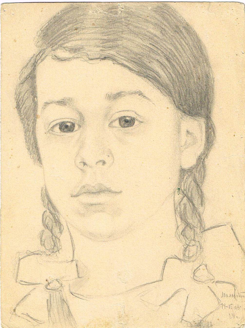 Unknown artist. Portrait of a girl
