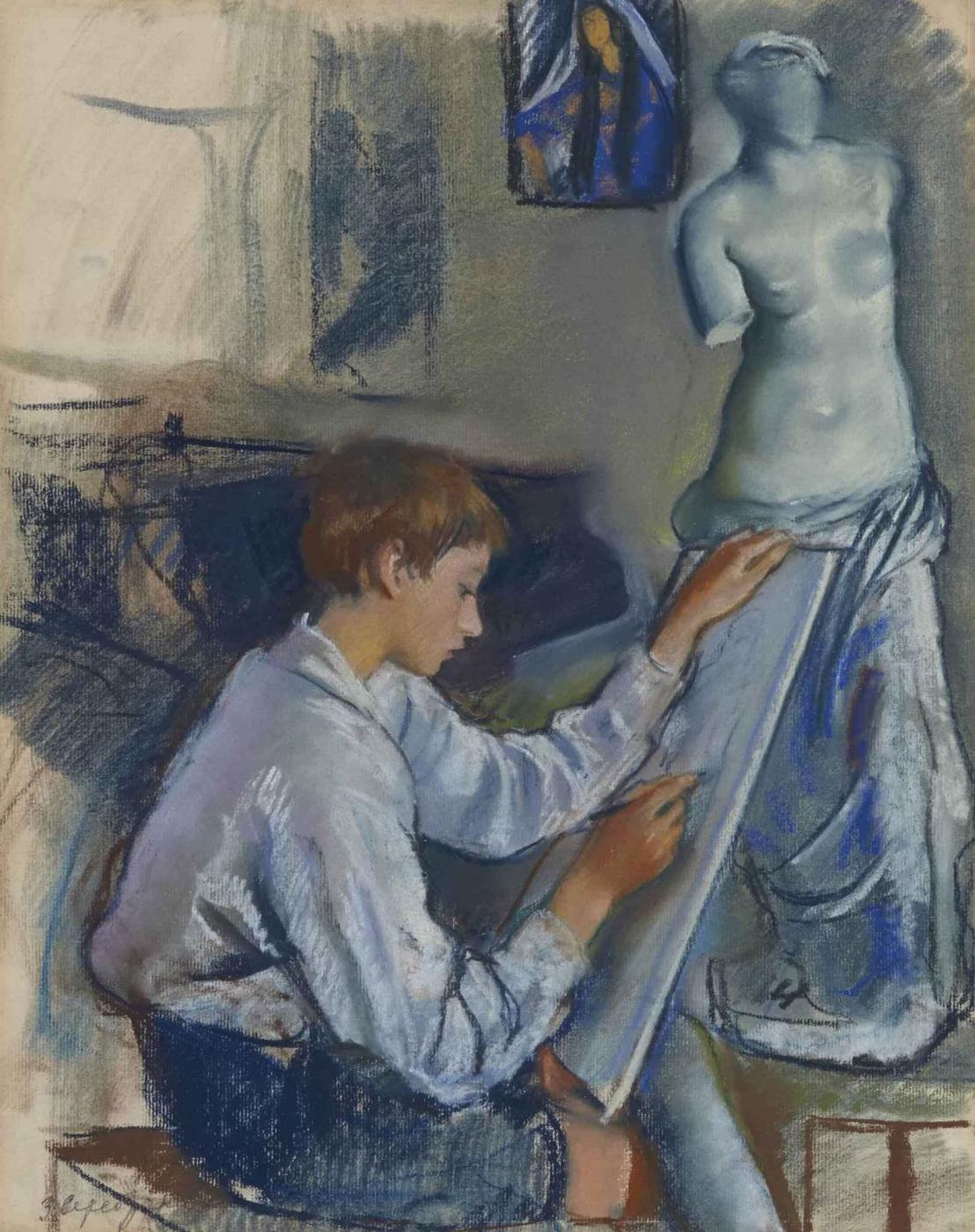 Zinaida Serebriakova. Portrait of his son Alexander