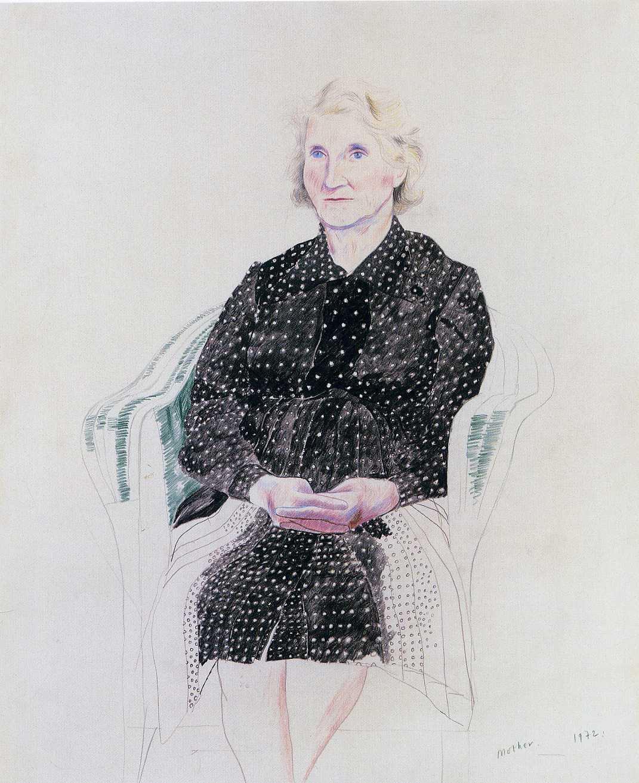 David Hockney. The artist's mother