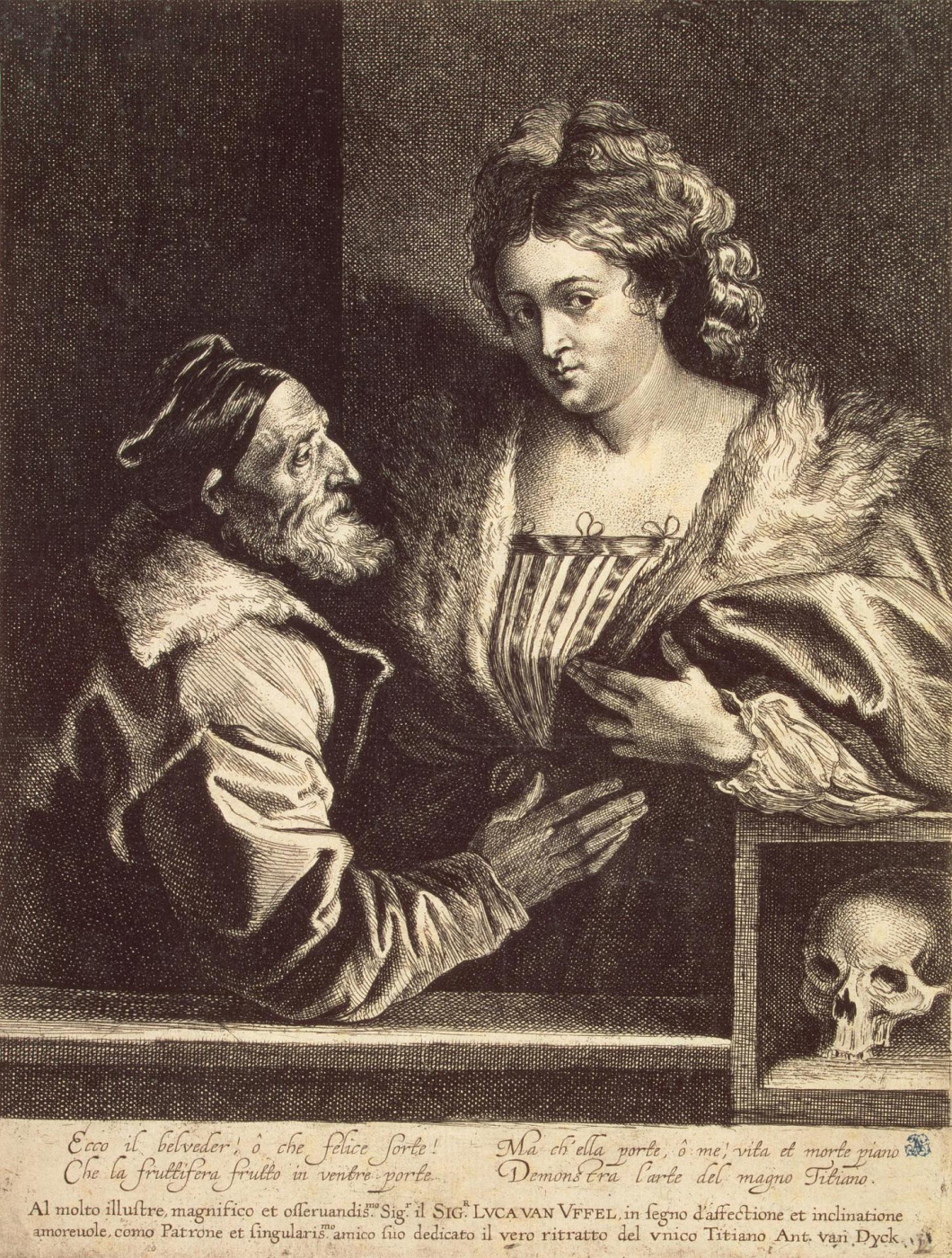 Anthony van Dyck. Titian and his sweetheart