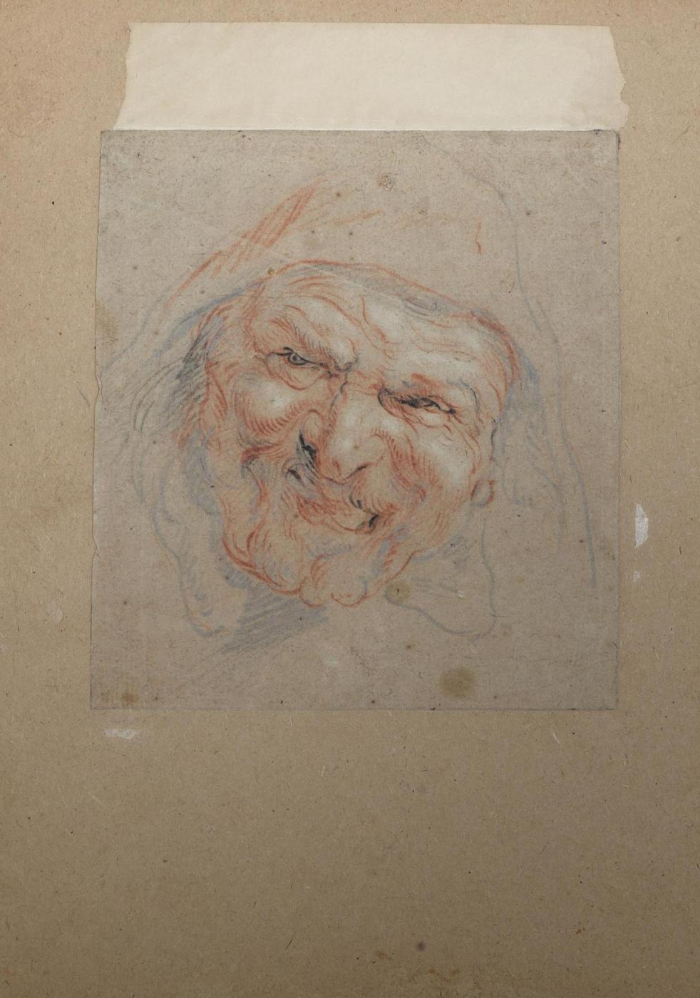 Jacob Jordaens. Head of a laughing man