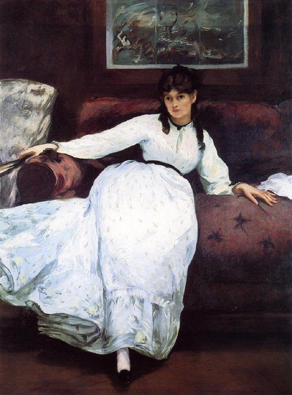 Edouard Manet. Rest. Portrait of Berthe Morisot