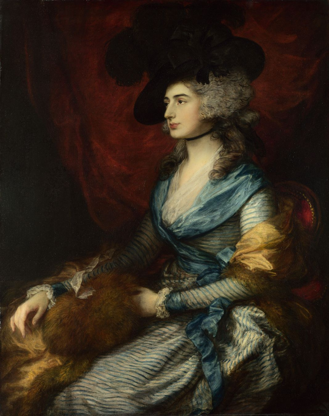 Thomas Gainsborough. Portrait of actress Sarah Siddons