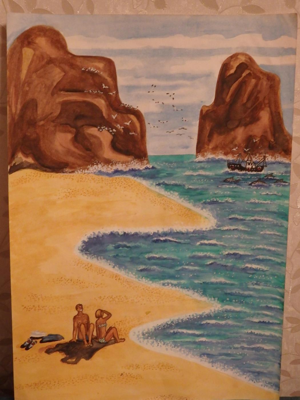 Irina. Sand beach