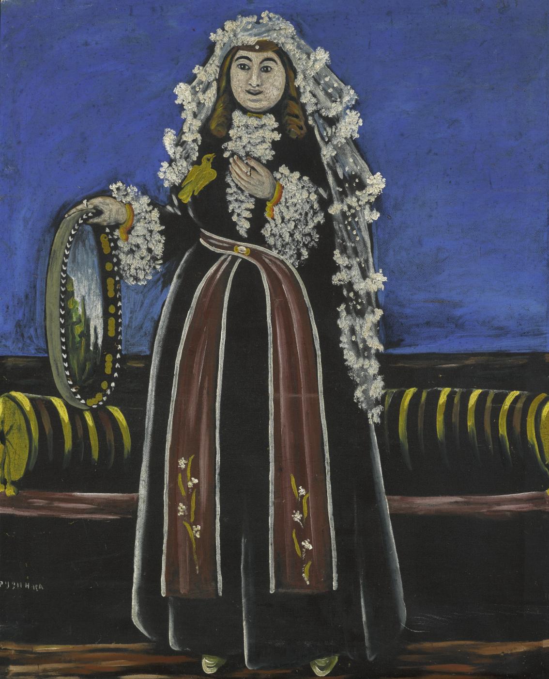 Niko Pirosmani (Pirosmanashvili). Georgian Woman Wearing a Lechaki