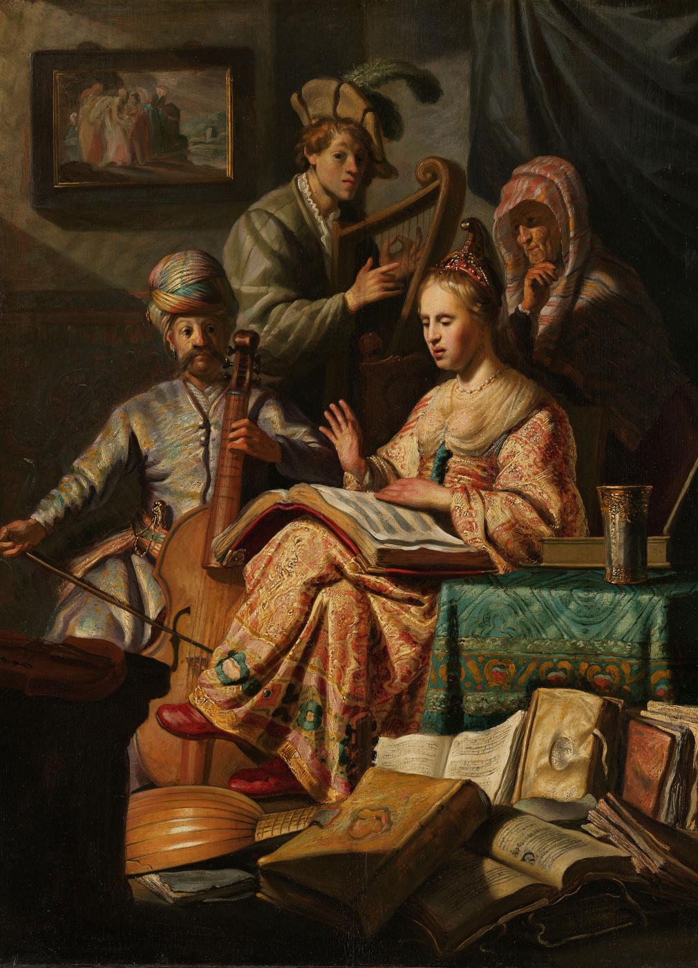 Rembrandt Harmenszoon van Rijn. Allegory of music