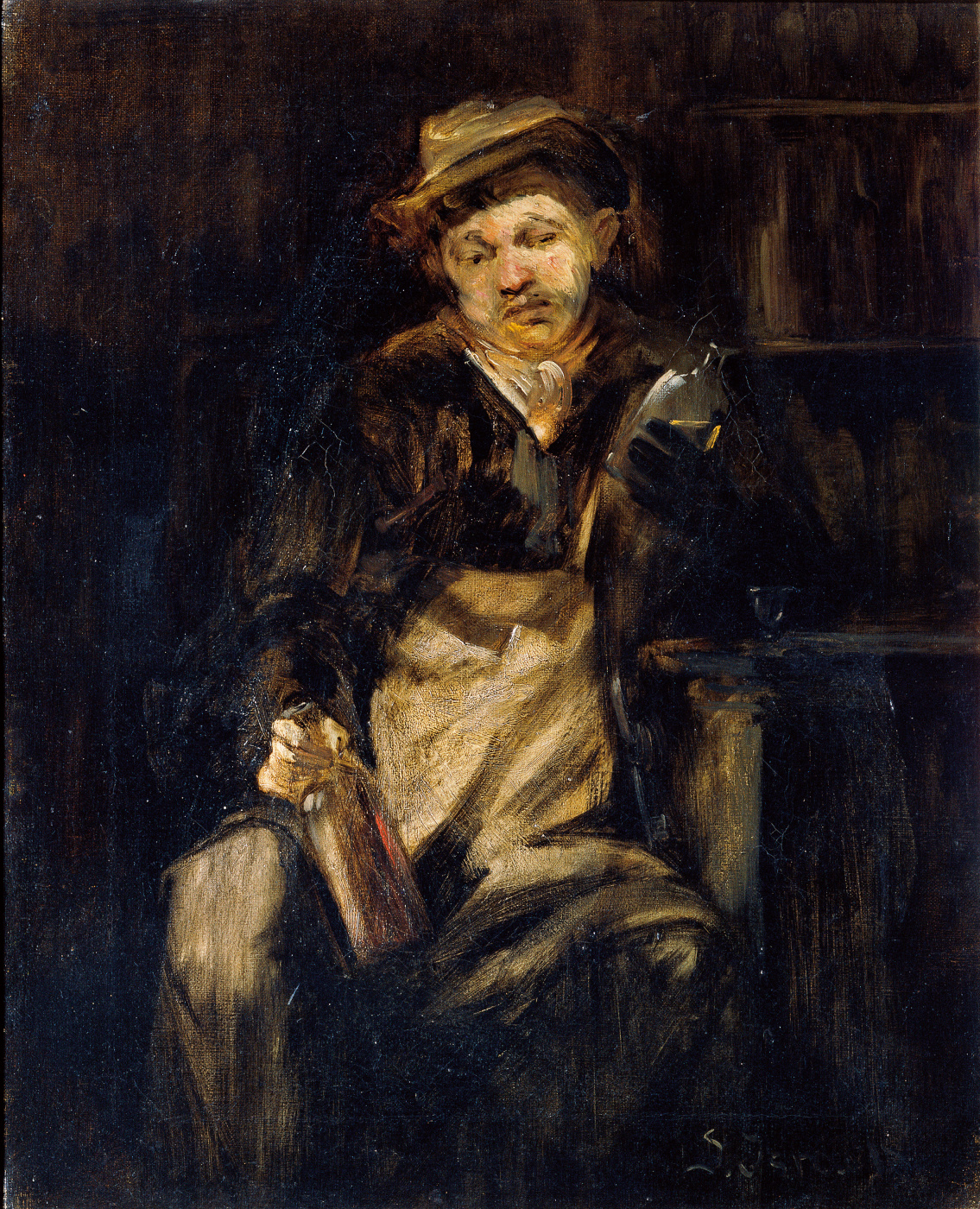 Joseph Israel. Drunkard