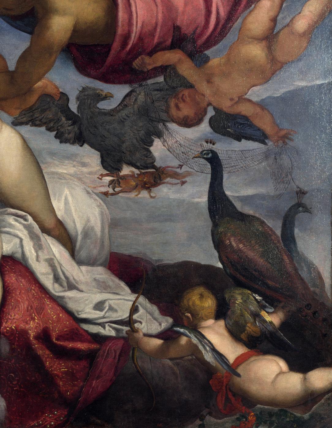 Jacopo (Robusti) Tintoretto. The origin of the Milky Way. Fragment