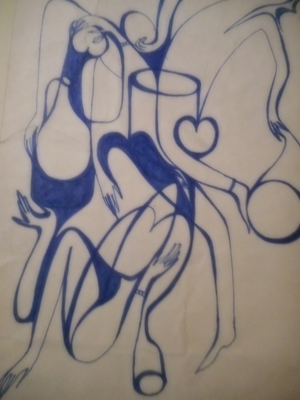 Nino Archilovna Givishvili. From the Graphic improvisation.
