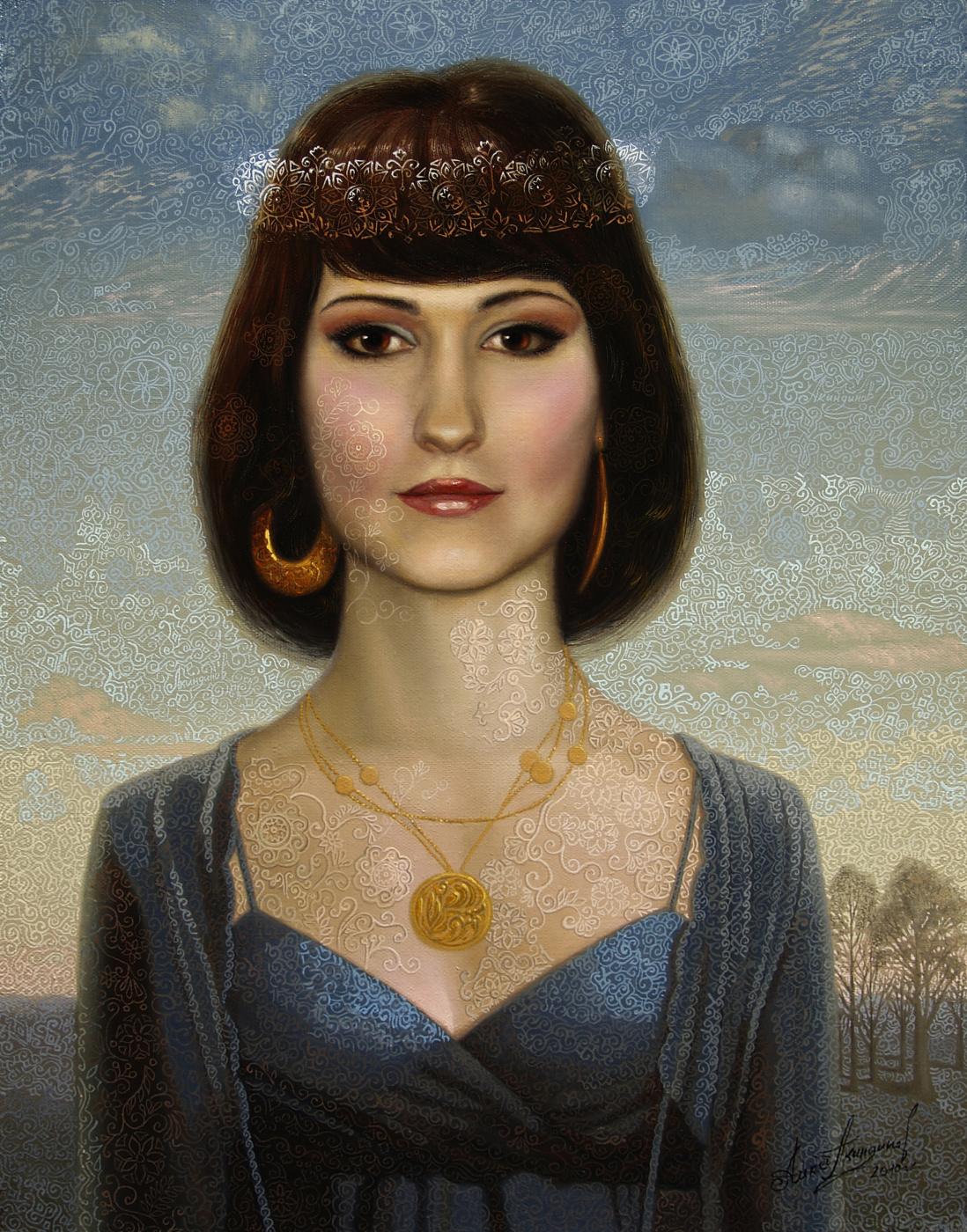 Алексей Петрович Акиндинов. Daughter of the morning light. Portrait of Anastasia Kolskaya