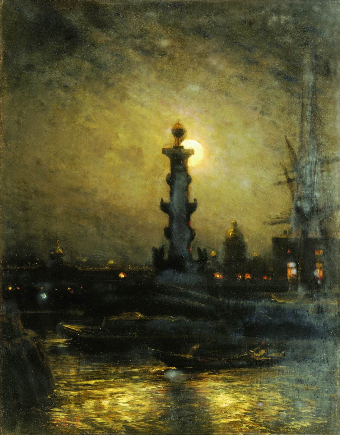 Alexey Petrovich Bogolyubov. Exchange at night. Petersburg