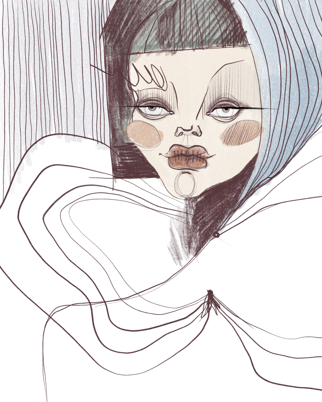 Ekaterina Nesterets. Portrait. Portrait