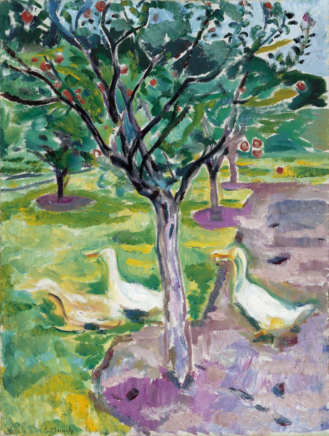 Edward Munch. Geese in the garden