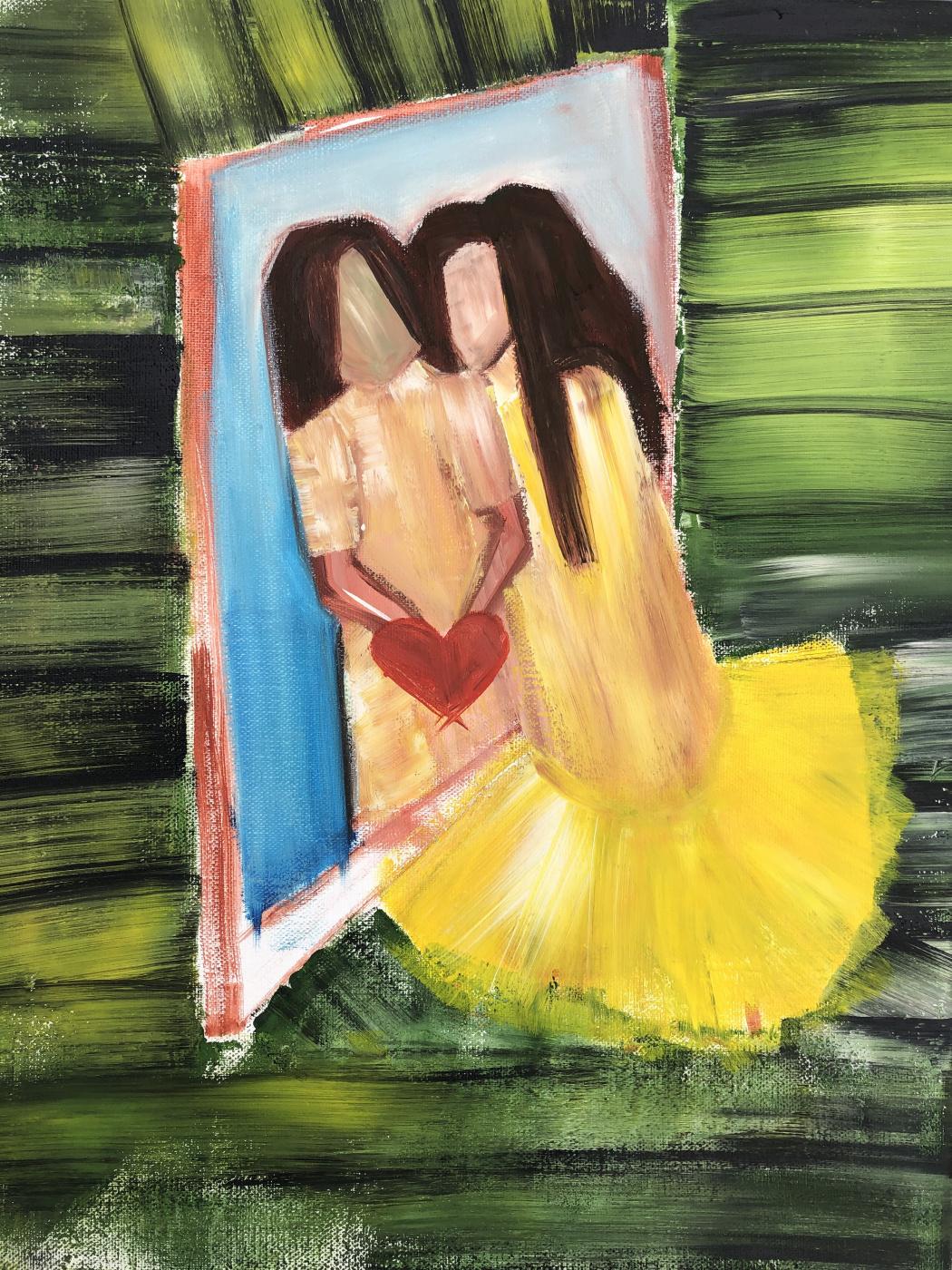 Anastasia Merris. Touching the looking glass