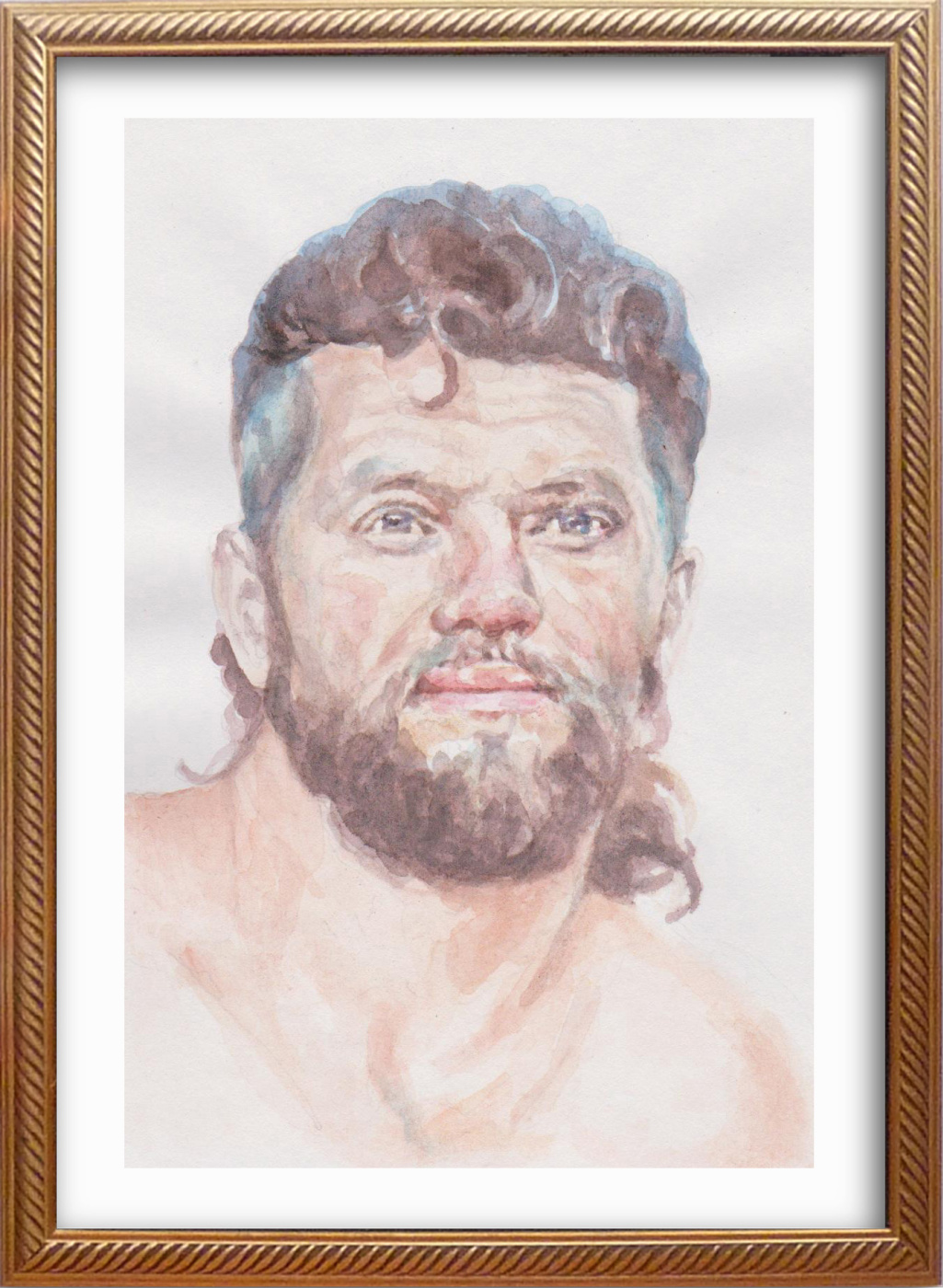Ivan Alexandrovich Dolgorukov. My watercolor portrait of the artist Alexander Ankudinov
