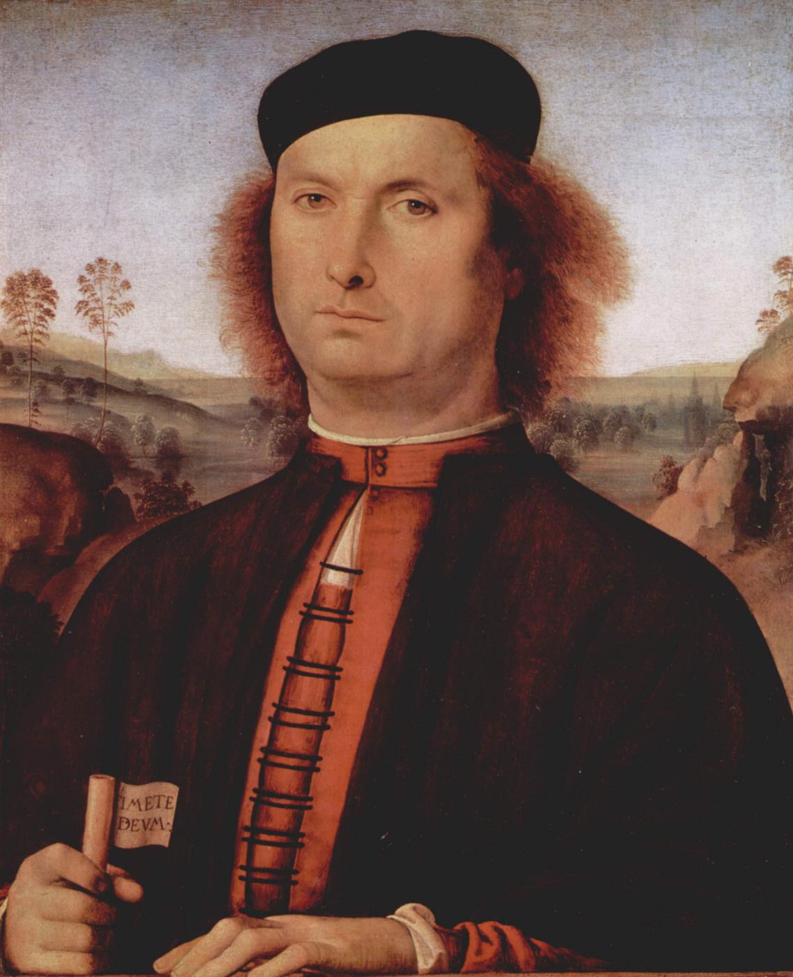 Pietro Perugino. Portrait of Francesco delle Opera