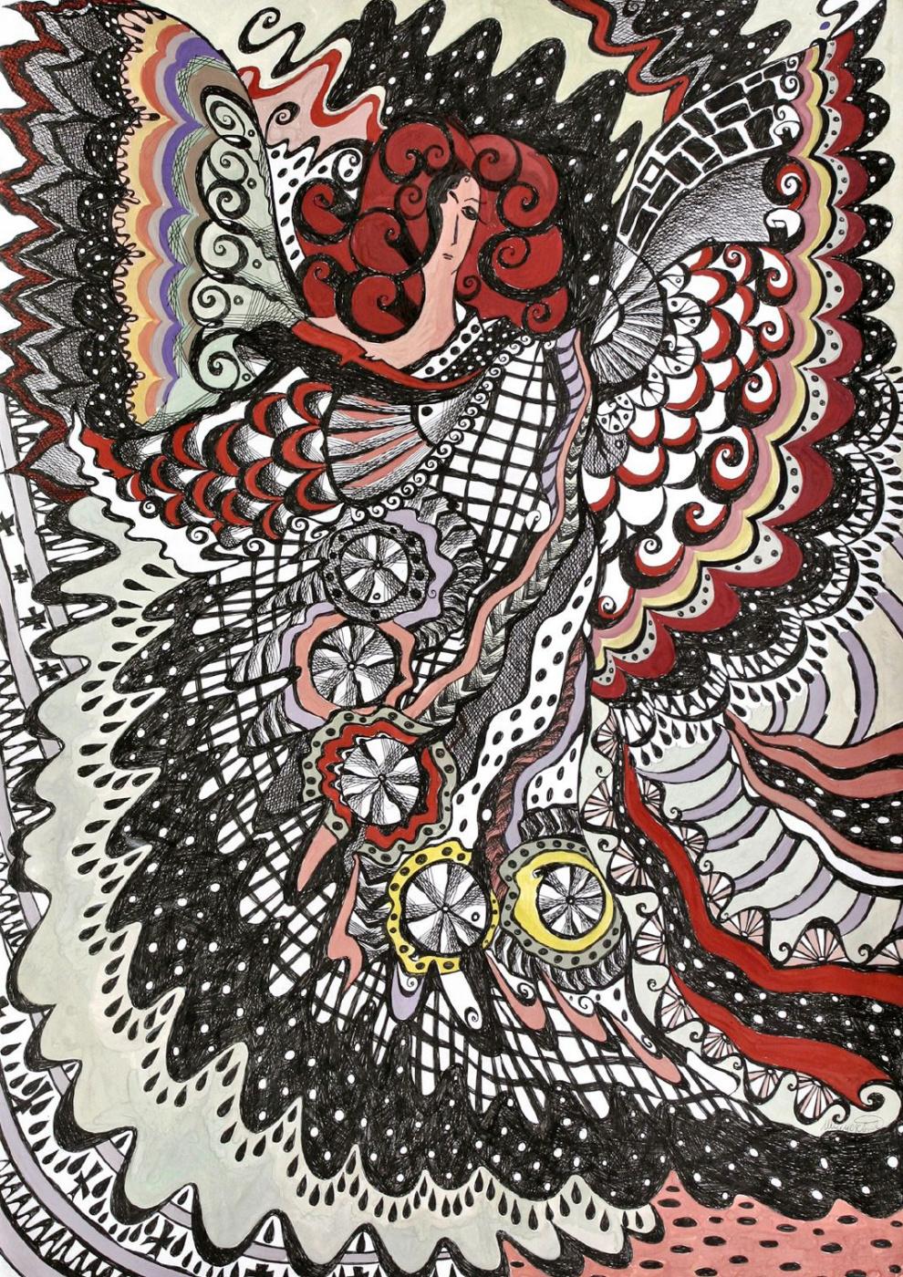 """Irina Shumskaya. The painting """"Night"""" Irina SHUMSKAYA (copyright copy)"""