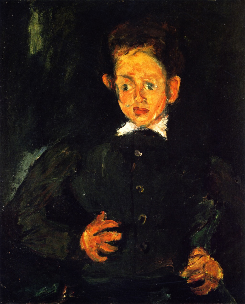 Chaim Soutine. The boy in green coat
