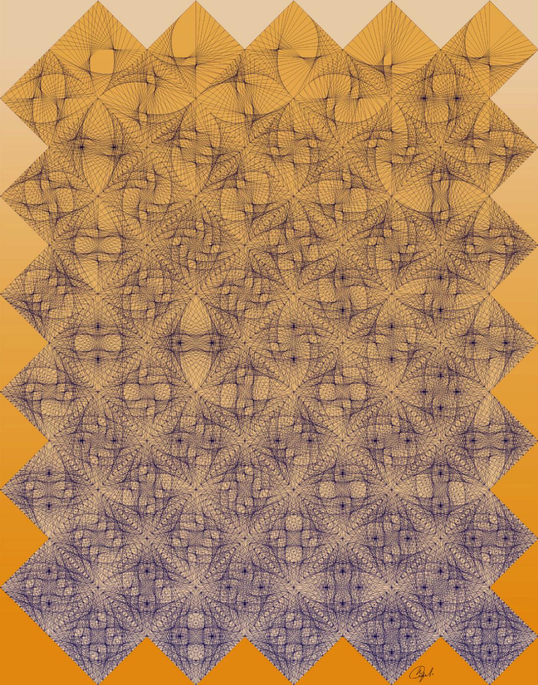 Юрий Николаевич Сафонов (Yury Safonov). Caustics inside the square series (combinatorics)