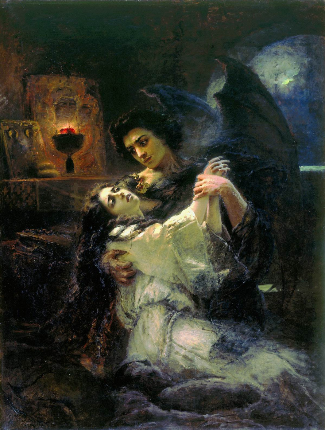 Konstantin Makovsky. Demon and Tamara
