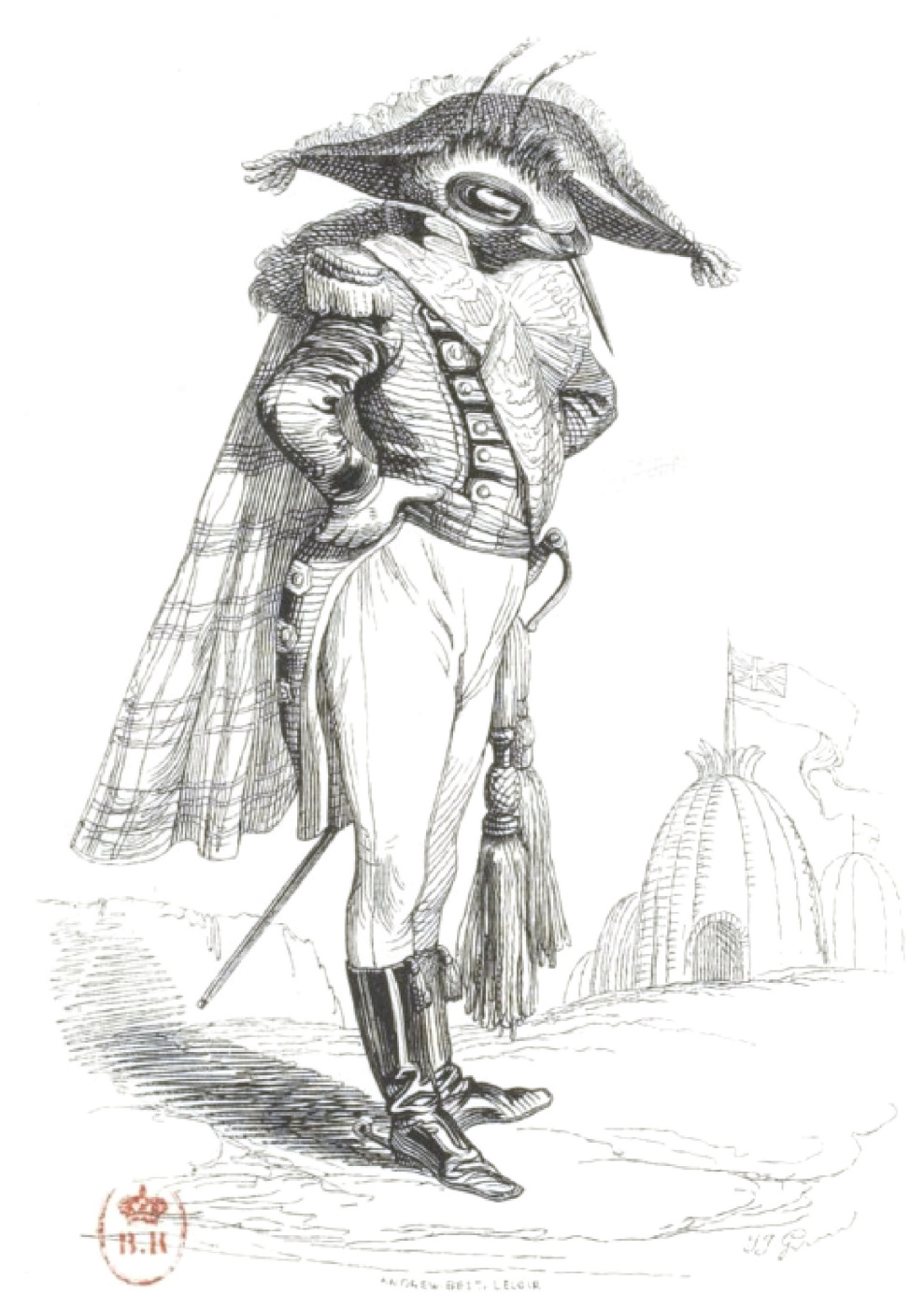 "Jean Inias Isidore (Gerard) Granville. Prince Euglous-Bourdon. ""Scenes of public and private life of animals"""