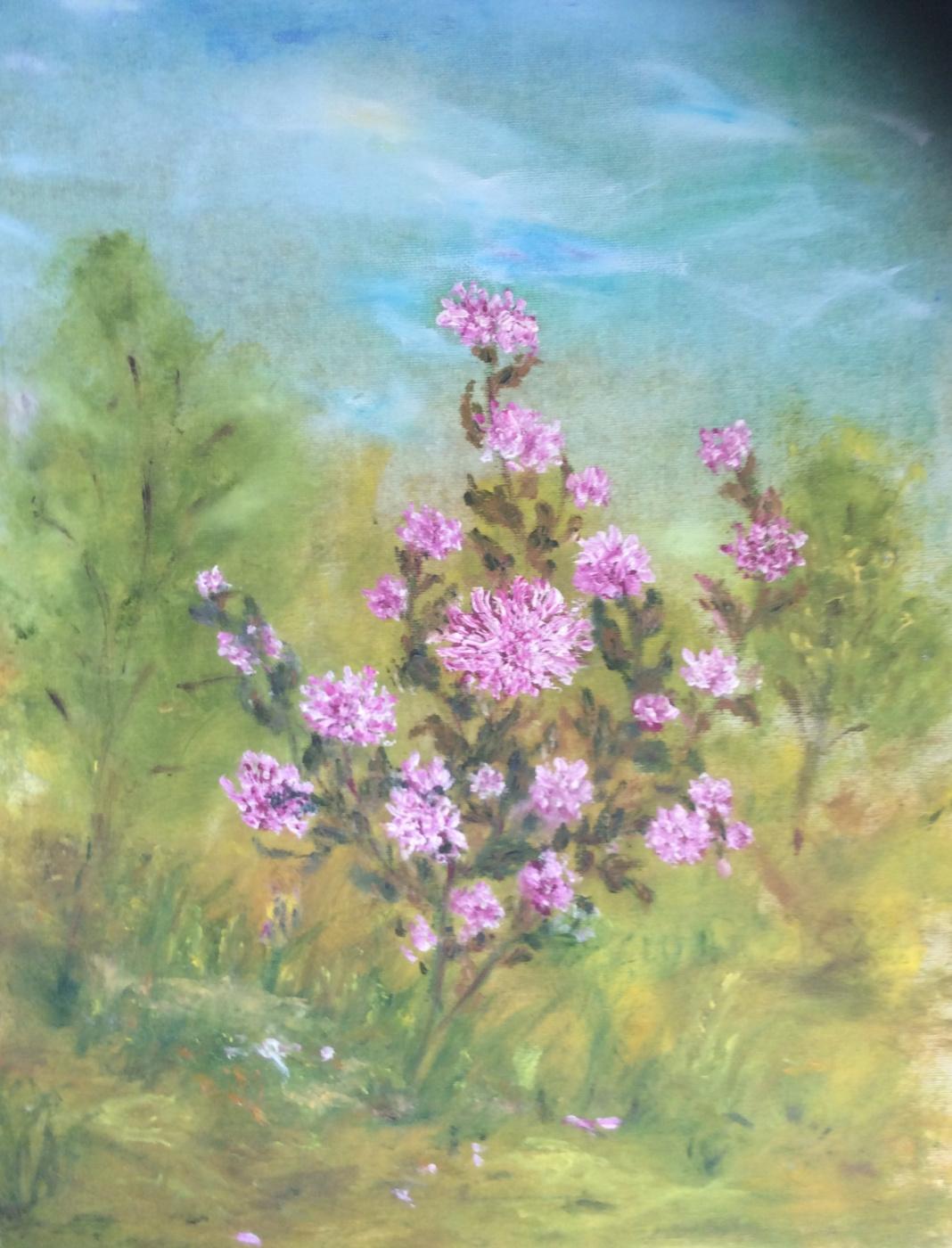 Rita Arkadievna Beckman. Chrysanthemums bloomed again