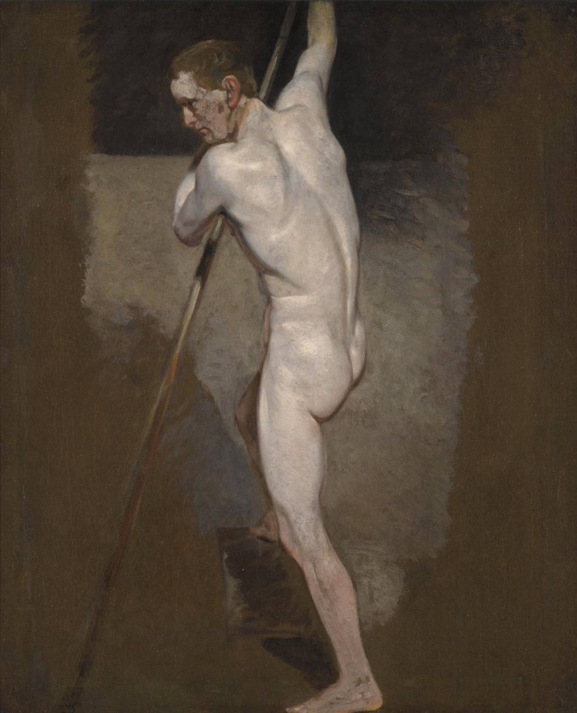 John Constable. A standing Nude male. Sketch