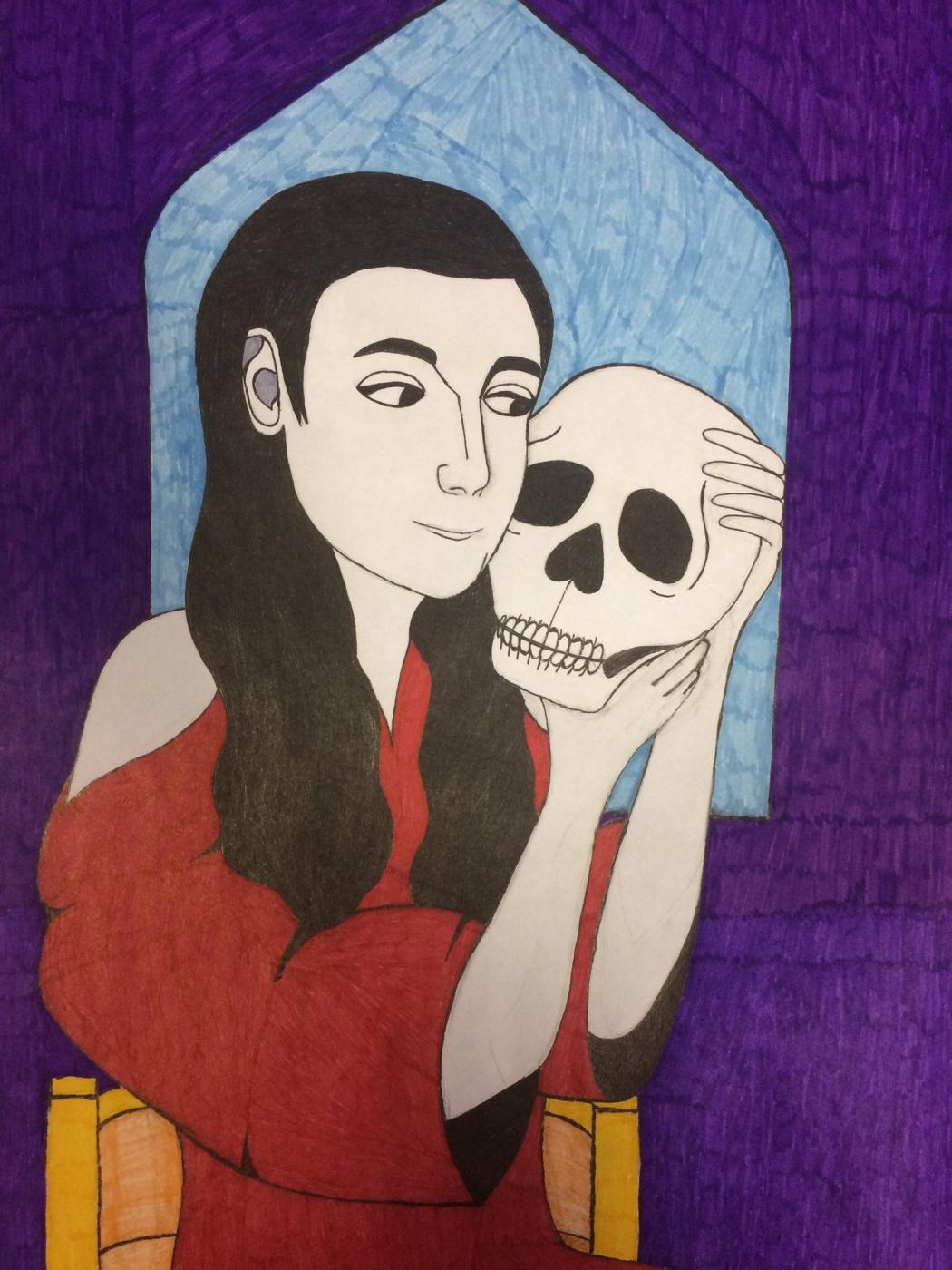 Andrey Michailovich Petrov. Girl with skull