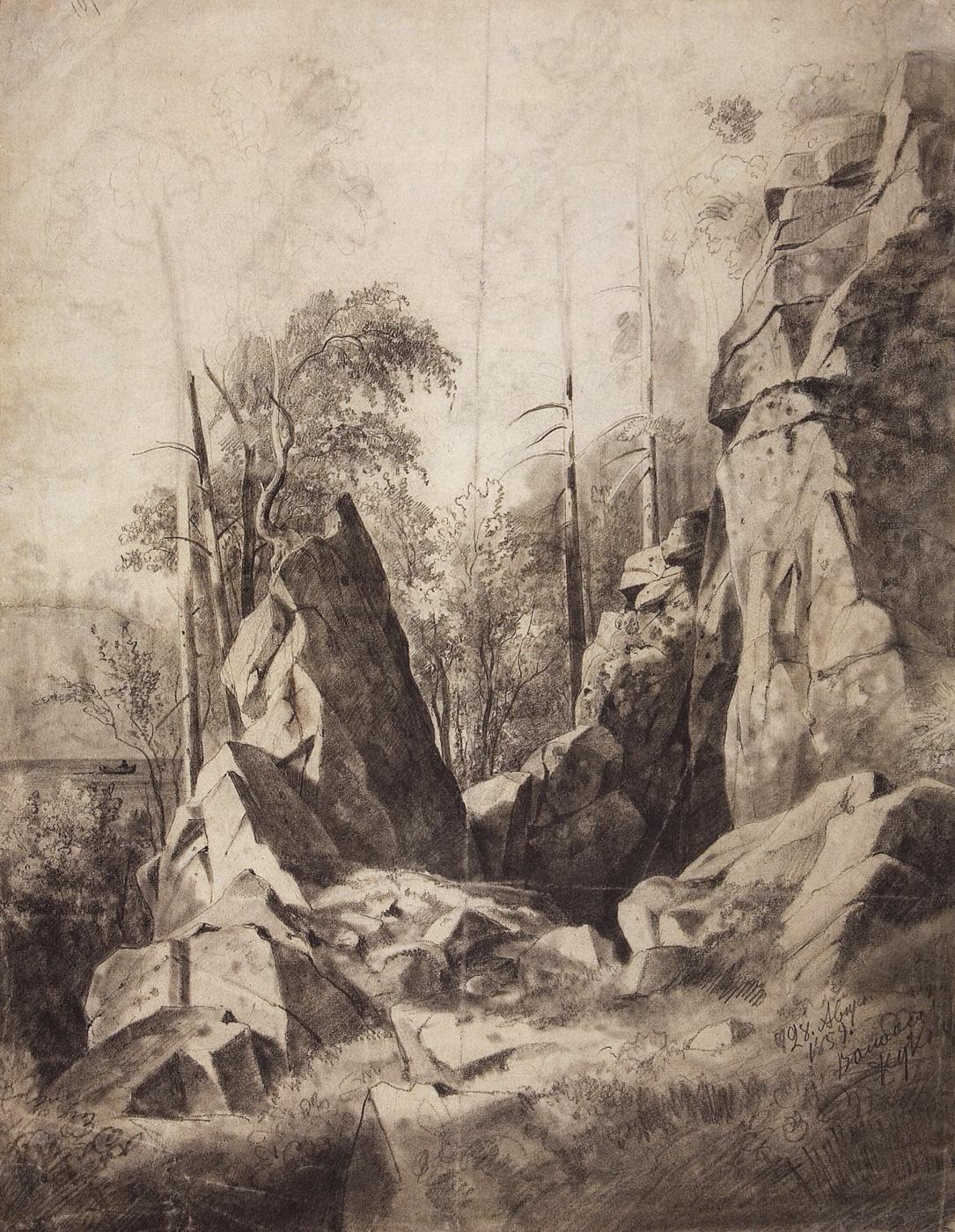 Ivan Shishkin. Rocks on the island of Valaam. Kukko