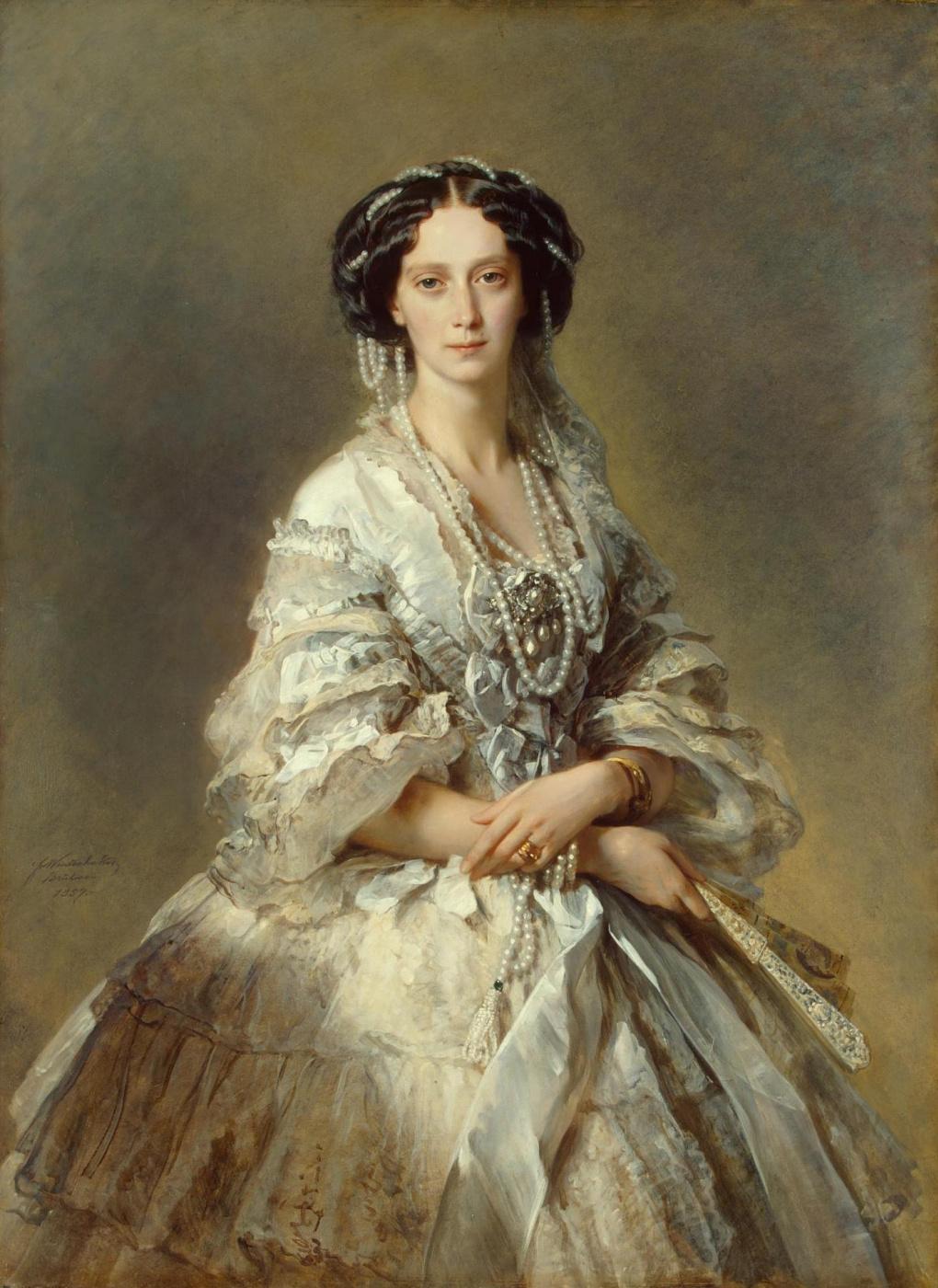 Franz Xaver Winterhalter. Portrait of Empress Maria Alexandrovna