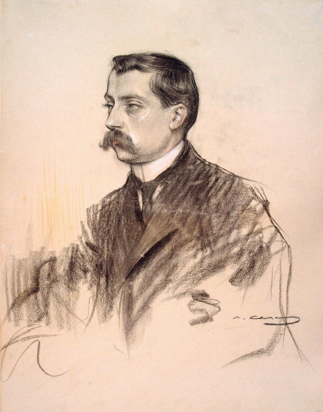 Ramon Casas i Carbó. Portrait of Albert Bastardas