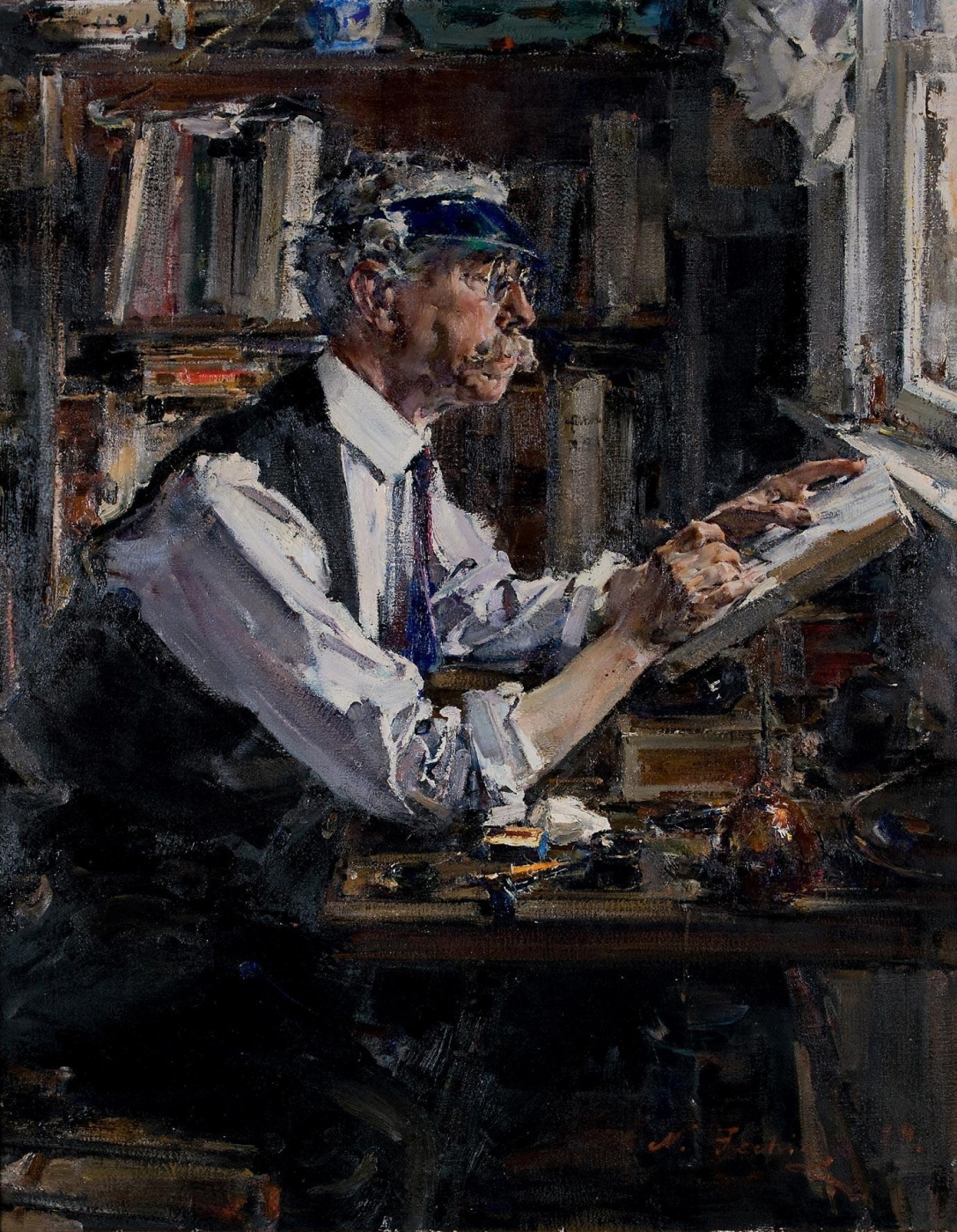 Nikolay Feshin. Portrait of the Engraver William D. Watt