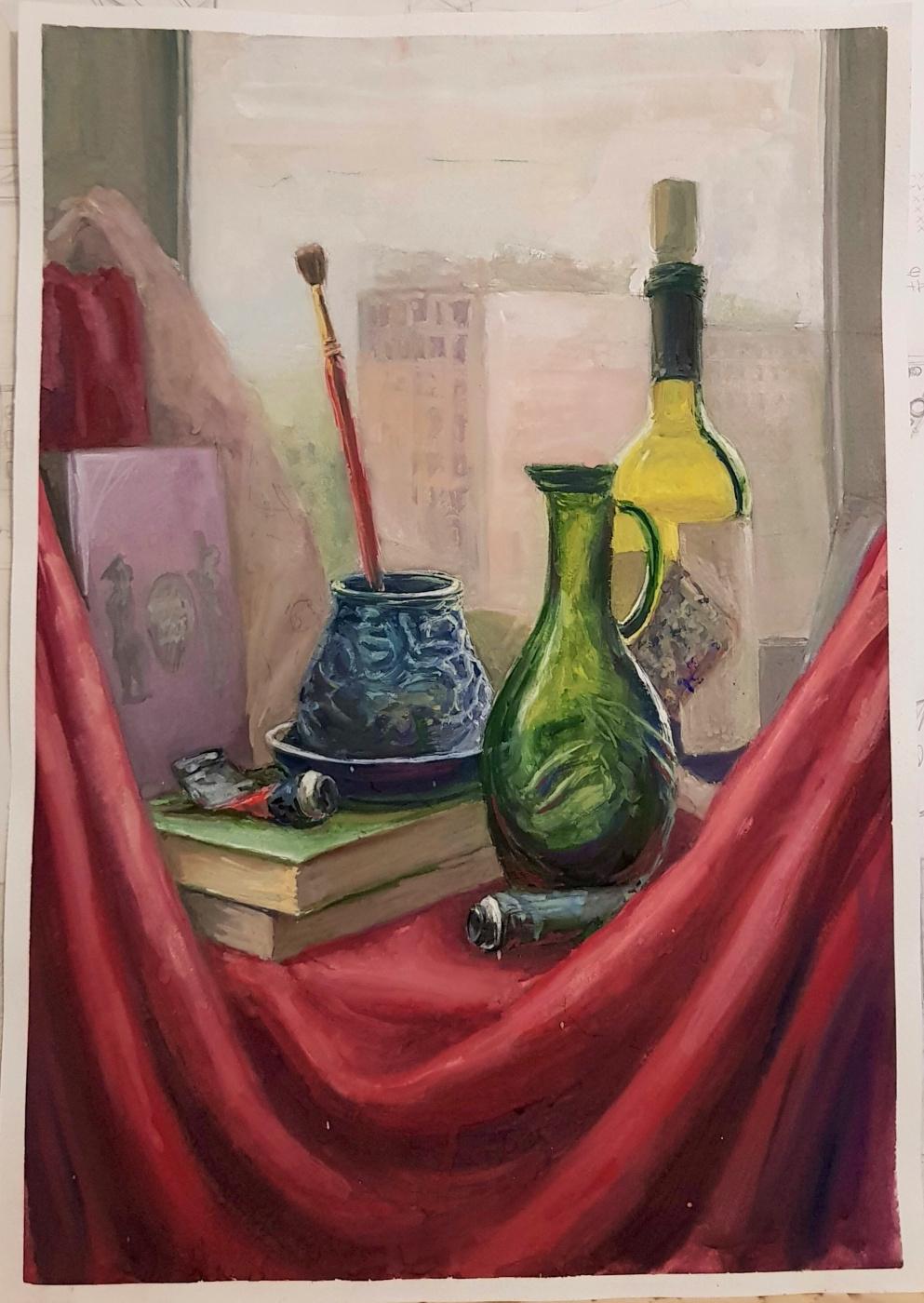Evgeniya Kaposhka. Still life with a window