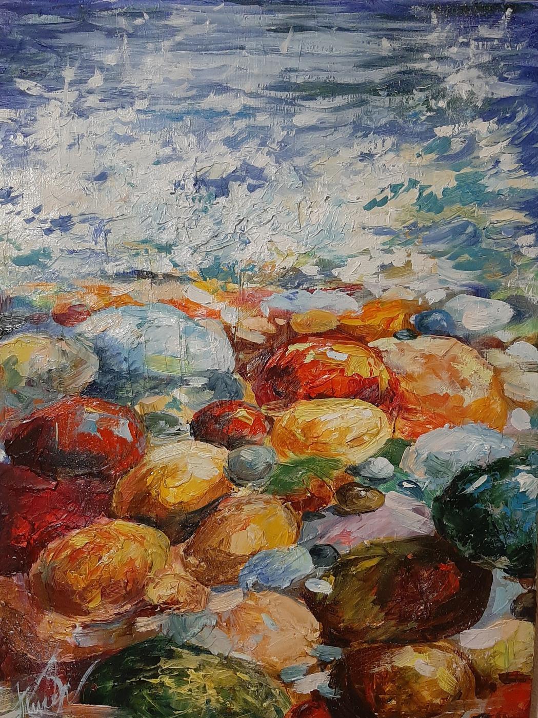 Julia Gennadievna Pinyaeva. Sun on stones