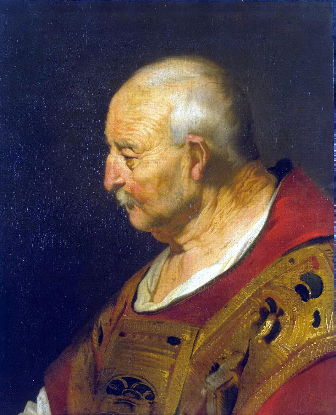 Jacob Adriaans Bakker. Head bald old man