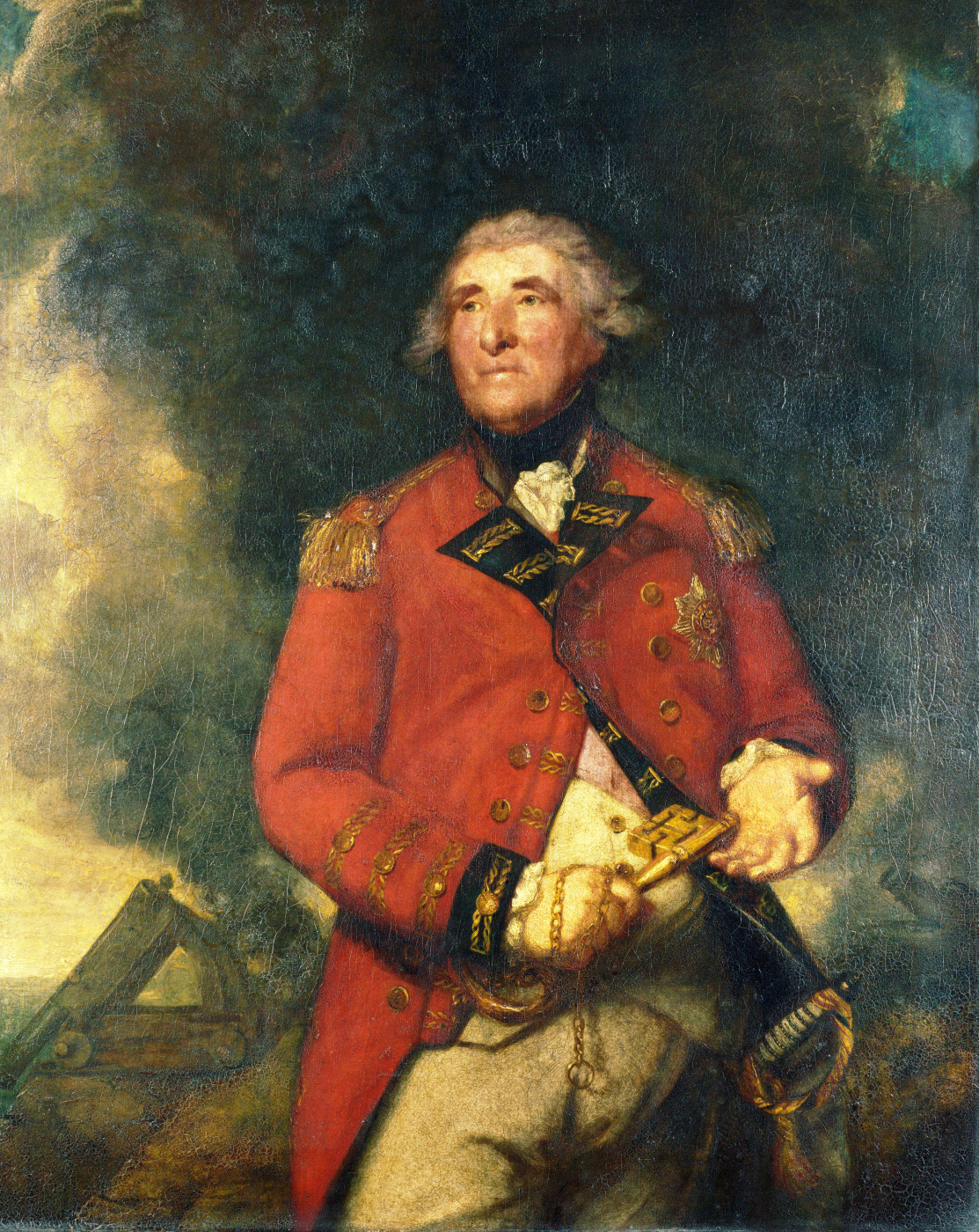 Joshua Reynolds. Portrait of Admiral Lord Heathfield, Governor of Gibraltar