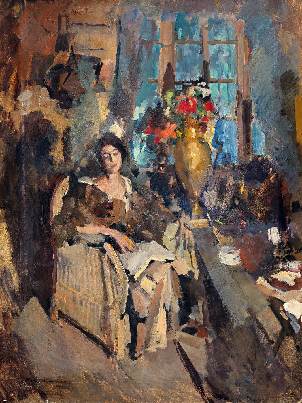 Konstantin Korovin. Женский портрет (Портрет Н.Н. Вышеславцевой)