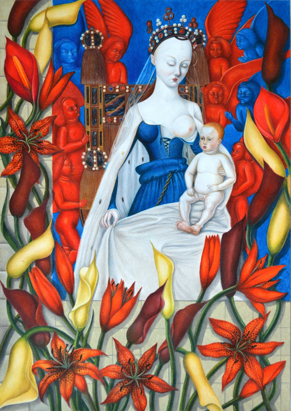 Olga Alexandrovna Fire. Based on the works of Jean Fouquet
