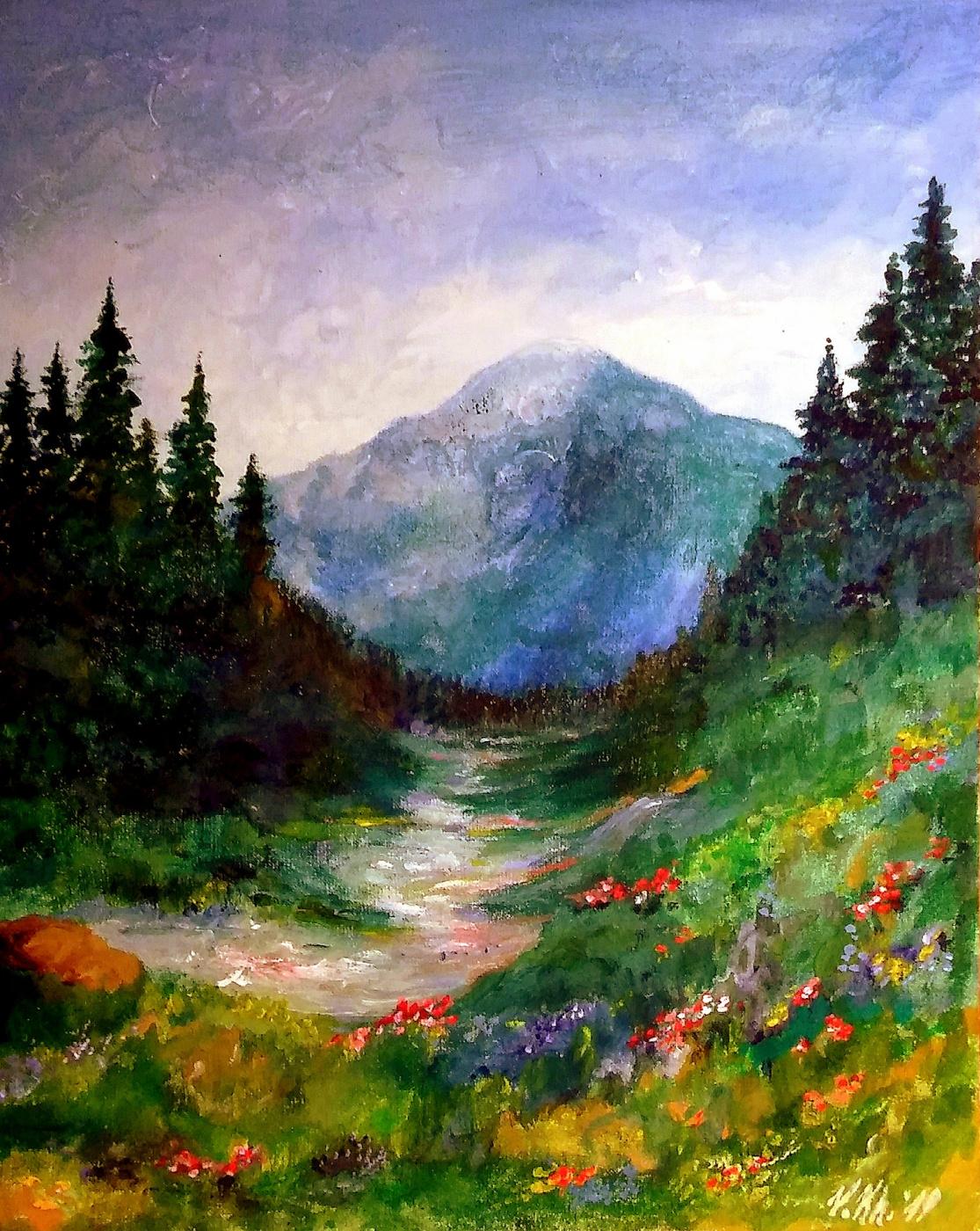 Valentina Khudyakova. Весна в горах