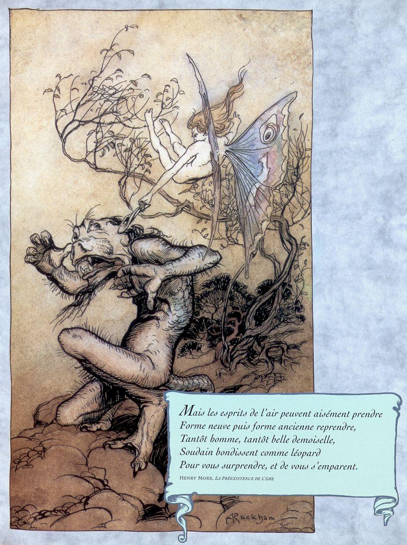 Arthur Rackham. Elf and monster