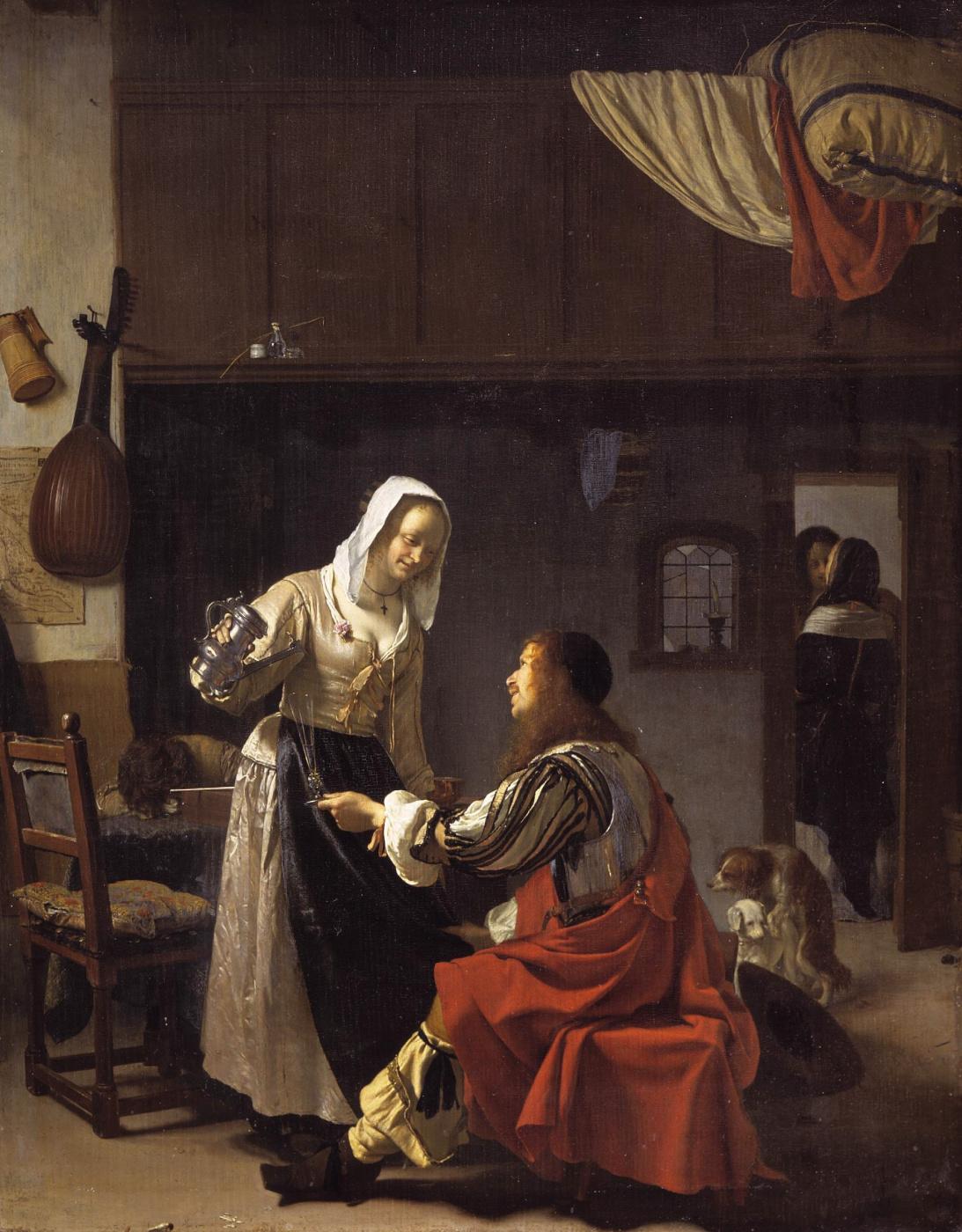 Franz van Miris the Elder. The scene in the brothel