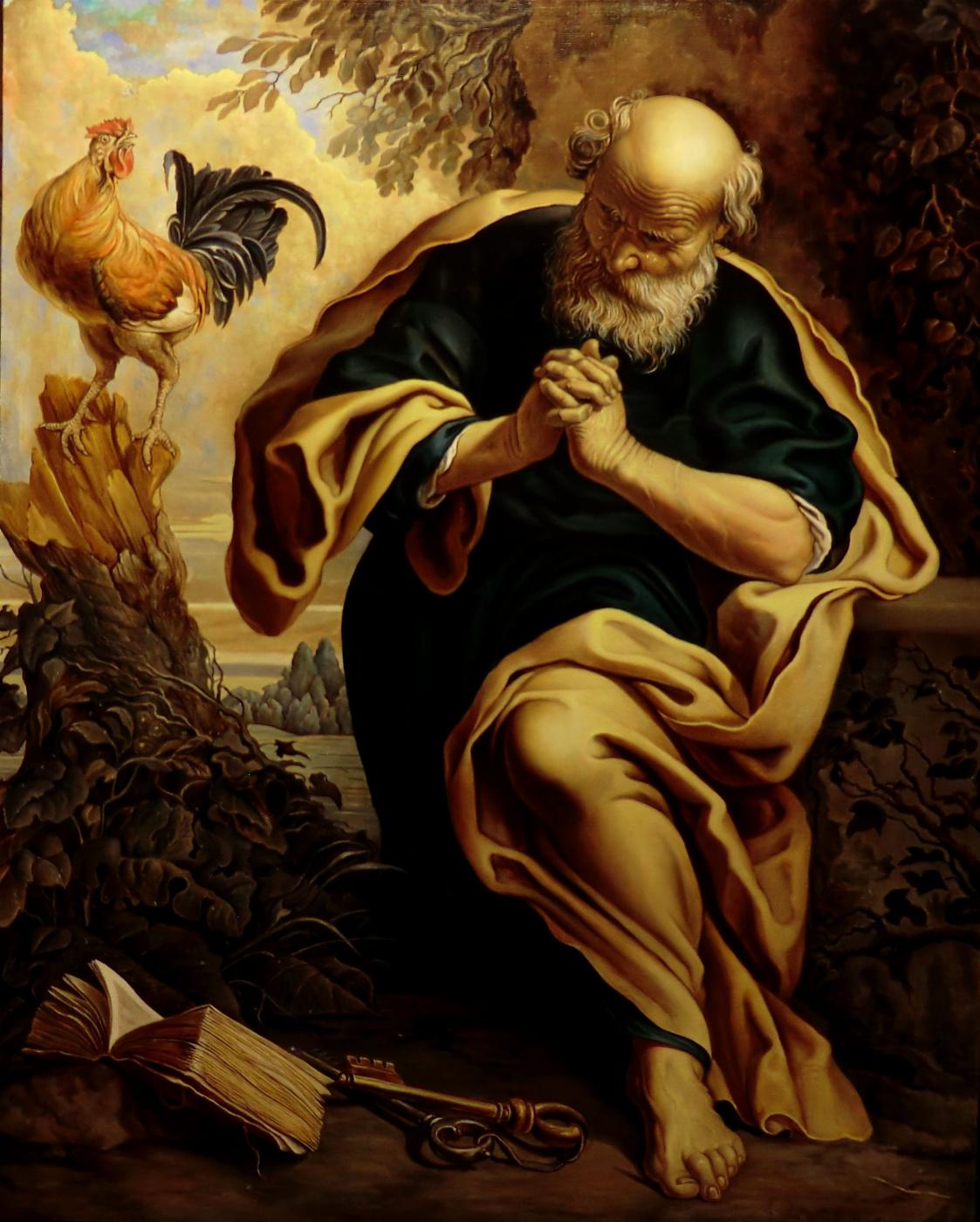 Valery Vasilyevich Litvinov. Repentance of St. Peter (copy of the Segers)