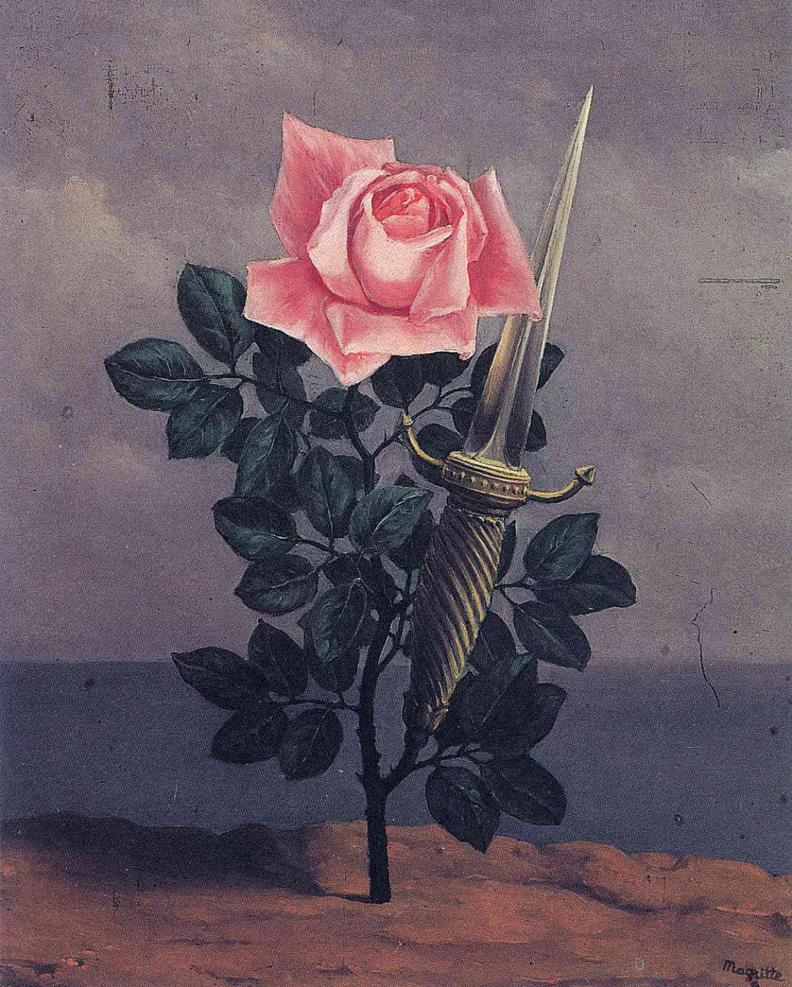 René Magritte. Shot in the heart
