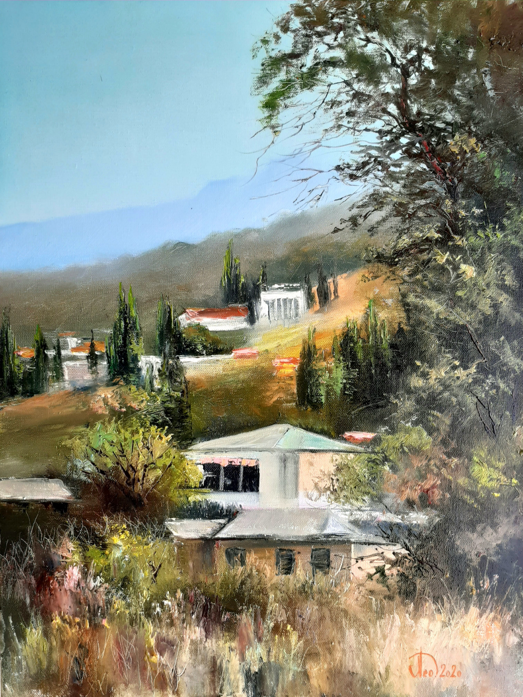 Alexander Alekseevich Lednev. Crimean houses